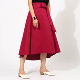 アクアガール aquagirl 【洗える】ベルテッドAラインスカート (ラズベリーピンク)