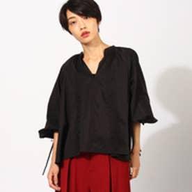 アクアガール aquagirl エンブロイダリーシャツ (ブラック)