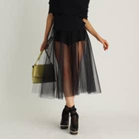 アクアガール aquagirl Bilitis dix-sept ans チュールロングフレアスカート (ブラック)