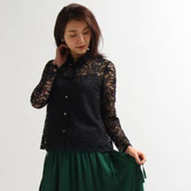 アクアガール aquagirl キャミソール付き総レースシャツ (ブラック)