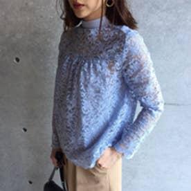 アクアガール aquagirl キャミソール付き総レースシャツ (ライトブルー)