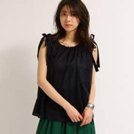 アクアガール aquagirl 【WEB限定】ショルダーリボンブラウス (ブラック)