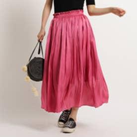 アクアガール aquagirl 【追加生産】【洗える】シャイニーギャザースカート (ラズベリーピンク)