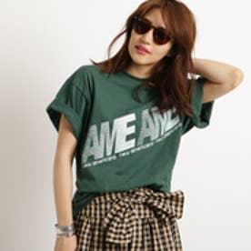 アクアガール aquagirl Americana ビッグシルエットロゴTシャツ (ダークグリーン)