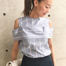 アクアガール aquagirl オープンショルダーシャツ (ライトブルー)