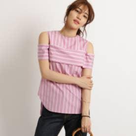 アクアガール aquagirl オープンショルダーシャツ (ピンク)