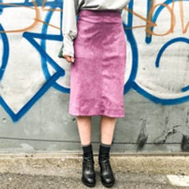 アクアガール aquagirl スウェードタイトスカート (パープル)