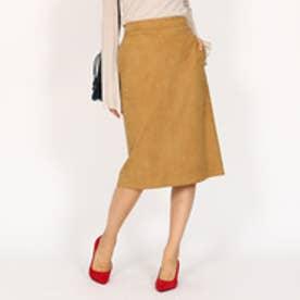 アクアガール aquagirl スウェードタイトスカート (キャメル)