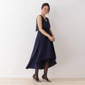 ボンメルスリー Bon mercerie Luxe brille フェイクパール付ドレス (ネイビー)