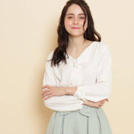 ボンメルスリー Bon mercerie ベネシャンVネックシャツ (オフホワイト)