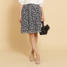 ボンメルスリー Bon mercerie 【SS・Sサイズあり】フラワーオーガンジースカート (ネイビー)