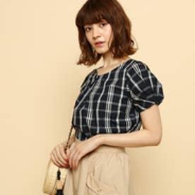ボンメルスリー Bon mercerie 【手洗い可】ブライトブロードシャツ (ブラックチェック)