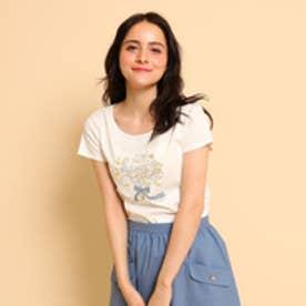 ボンメルスリー Bon mercerie 【10th記念アイテム】バイオシルケットスムースプリントTシャツ (オフホワイト)