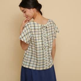 ボンメルスリー Bon mercerie 【手洗い可】【Sサイズあり】クルールチェックシャツ (オフホワイト)