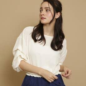ボンメルスリー Bon mercerie 裾シャーリングシャツ (オフホワイト)
