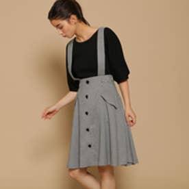 ボンメルスリー Bon mercerie オータムチェックAラインスカート (オフホワイト)