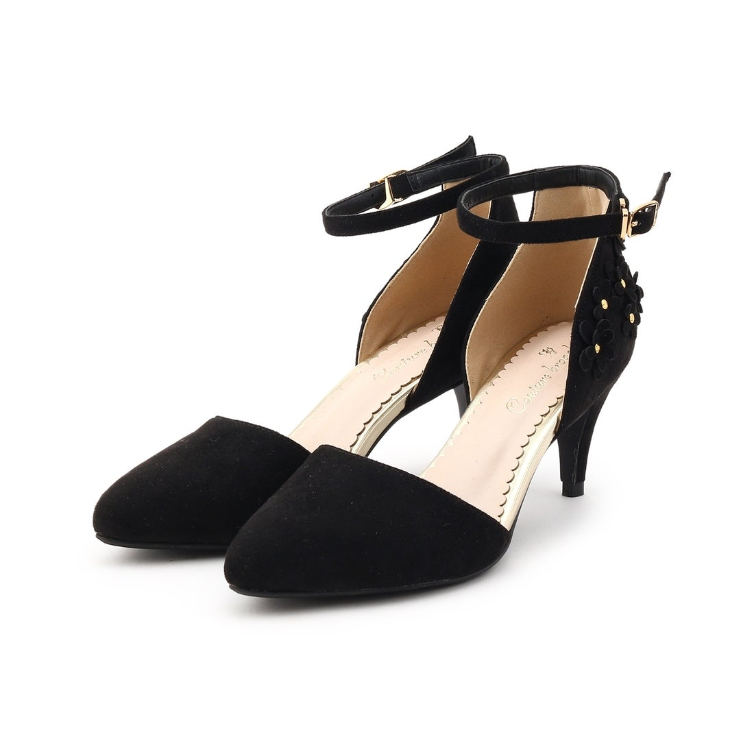993a5272a94348 クチュール ブローチ Couture brooch フラワーセパレートパンプス (ブラック) -靴&ファッション通販 ロコンド〜自宅で試着、気軽に返品