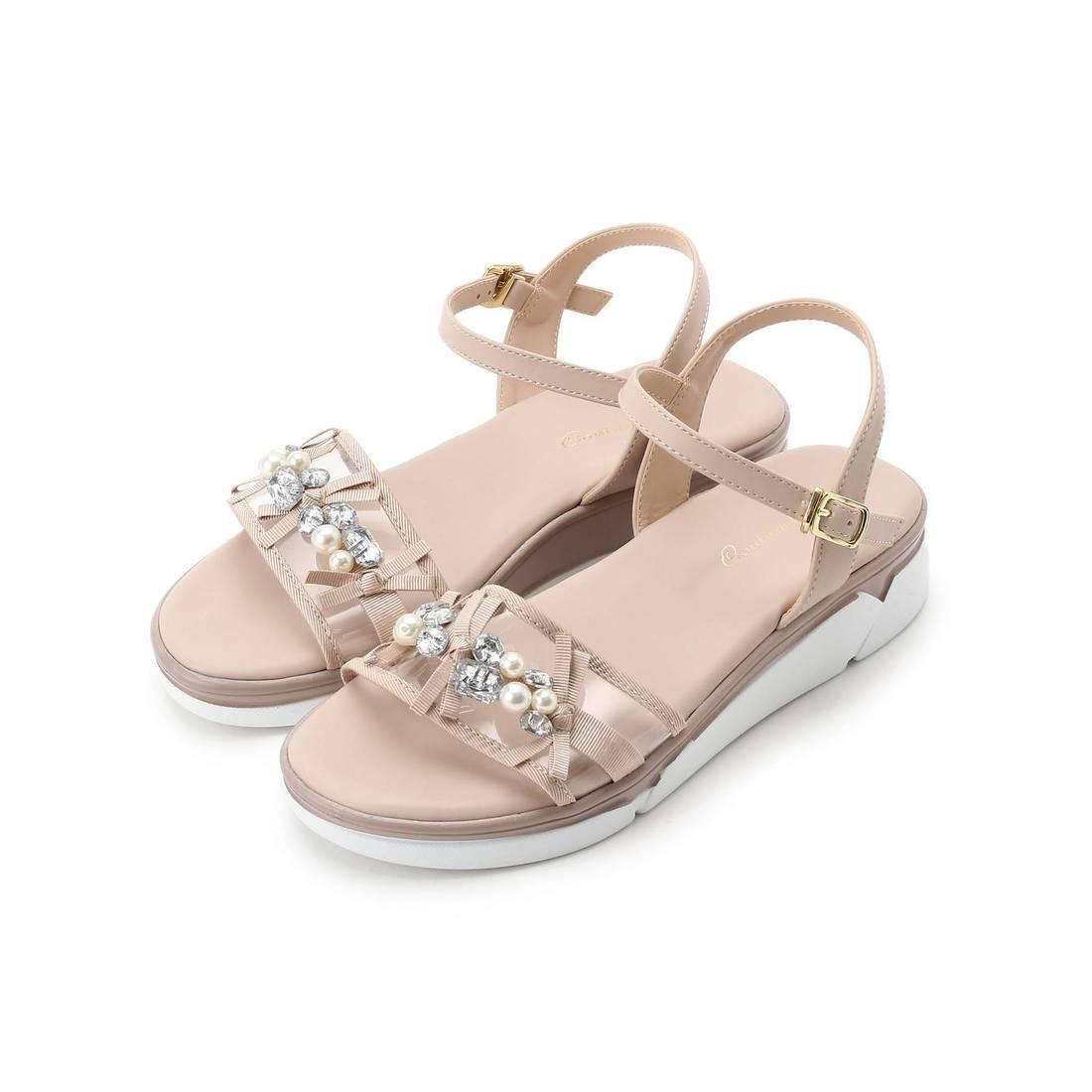 6d878fd752ddab クチュール ブローチ Couture brooch ビジューリボンスポサン (ベージュ) -靴&ファッション通販 ロコンド〜自宅で試着、気軽に返品