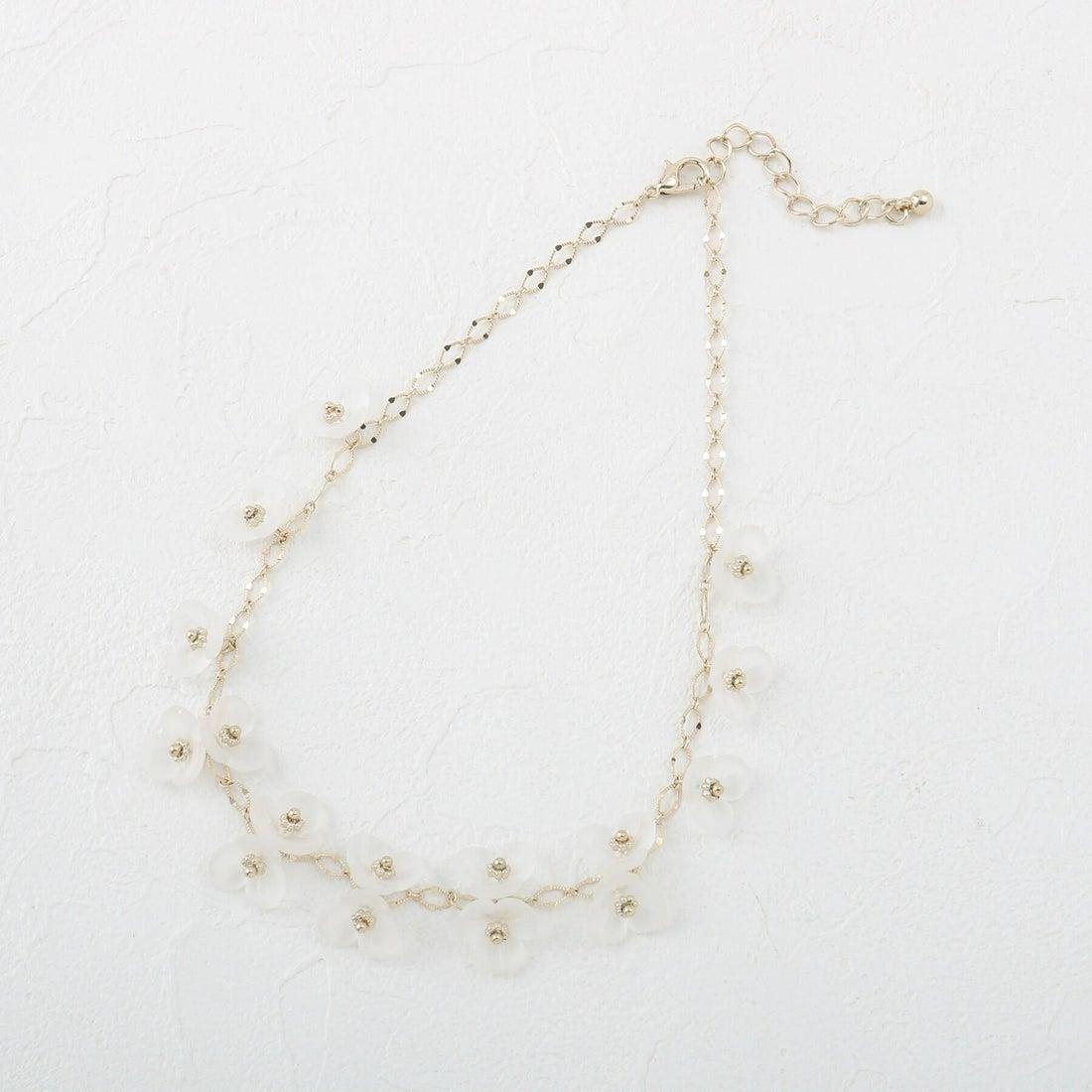 クチュール ブローチ Couture brooch メニーフラワーネックレス (オフホワイト)
