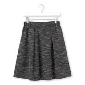 クチュール ブローチ Couture brooch ラメツイードタックスカート (ネイビー&ブルー系)