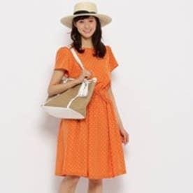 クチュール ブローチ Couture brooch スモールドットワンピース (オレンジ)