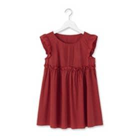 クチュール ブローチ Couture brooch フリルタイプライターシャツ (ボルドー)