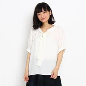 クチュール ブローチ Couture brooch ジョーゼットボウタイシャツ (オフホワイト)