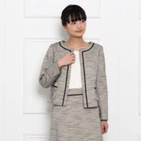 クチュール ブローチ Couture brooch ラメツイードジャケット (ライトベージュ)