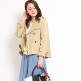 クチュール ブローチ Couture brooch ショートトレンチコート (ベージュ)