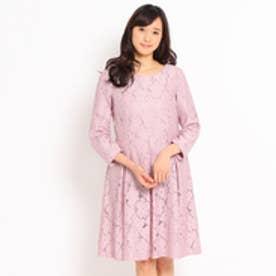 クチュール ブローチ Couture brooch フラワー総レースワンピース (ピンク)