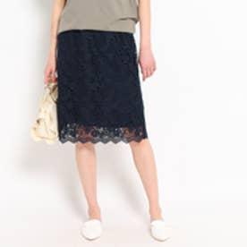 クチュール ブローチ Couture brooch 総レースタイトスカート (ブルー系)