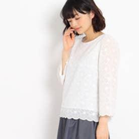 クチュール ブローチ Couture brooch 刺繍レースブラウス (オフホワイト)
