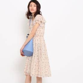 クチュール ブローチ Couture brooch ブーケフラワープリントワンピース (ベビーピンク)