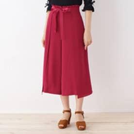 クチュール ブローチ Couture brooch フリル&リボンワイドパンツ (ワインレッド)