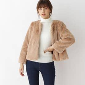 クチュール ブローチ Couture brooch テディファーショートコート (ライトベージュ)