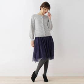 クチュール ブローチ Couture brooch アンゴラカーディガン×ワンピースセット (グレー)