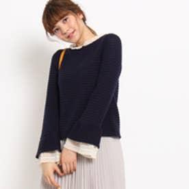 クチュール ブローチ Couture brooch レース使い袖コンシャスプルオーバー (ブルー系)