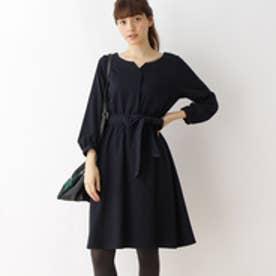 クチュール ブローチ Couture brooch 【WEB限定サイズ(S・LL)あり】サキソニーシャツワンピース (ブルー系)