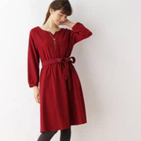 クチュール ブローチ Couture brooch 【WEB限定サイズ(S・LL)あり】サキソニーシャツワンピース (ボルドー)