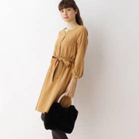 クチュール ブローチ Couture brooch 【WEB限定サイズ(S・LL)あり】サキソニーシャツワンピース (キャメル)