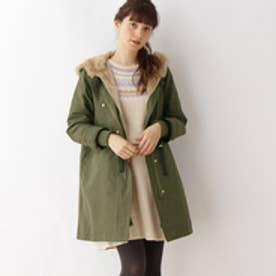 クチュール ブローチ Couture brooch 【WEB限定サイズ(S・LL)】ボアライナー付モッズコート (オリーブグリーン)