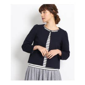 クチュール ブローチ Couture brooch 【WEB限定サイズ(SS・LL)】ポンチノーカラージャケット (ブルー系)