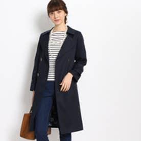 クチュール ブローチ Couture brooch 【WEB限定サイズ(SS・LL)】裏地花柄トレンチコート (ブルー系)