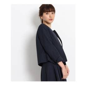 クチュール ブローチ Couture brooch 【WEB限定サイズ(SS・LL)】グログランノーカラージャケット (ブルー系)