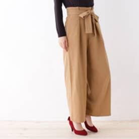 クチュール ブローチ Couture brooch 【WEB限定サイズ(SS・LL)あり】ベルト付きワイドパンツ (キャメル)