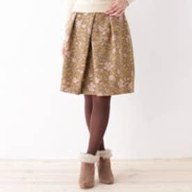 クチュール ブローチ Couture brooch フローラルゴブラン風スカート (キャメル)