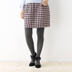 クチュール ブローチ Couture brooch ツイードコクーンスカート (ブルー系)