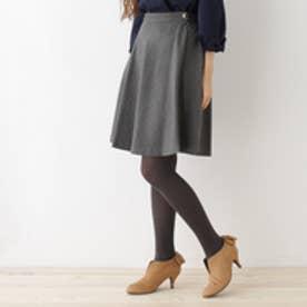 クチュール ブローチ Couture brooch 【WEB限定サイズ(SS・LL)あり】サキソニーフレアスカート (チャコールグレー)