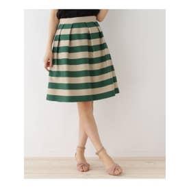 クチュール ブローチ Couture brooch 【WEB限定サイズ(S)あり】ワイドボーダースカート (ダークグリーン)