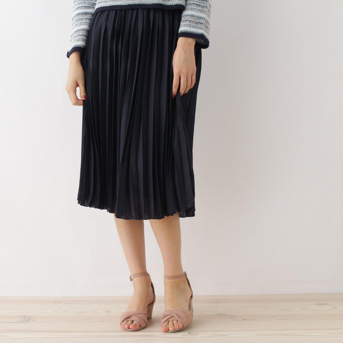 【SALE 73%OFF】クチュール ブローチ Couture brooch 【WEB限定プライス】デザインベルトプリーツスカート (ブルー系)